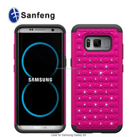T-Mobile and MetroPCS Carriers Case For Samsung Galaxy S8/s8+ Protective Back Cover With Bling Bling Diamond