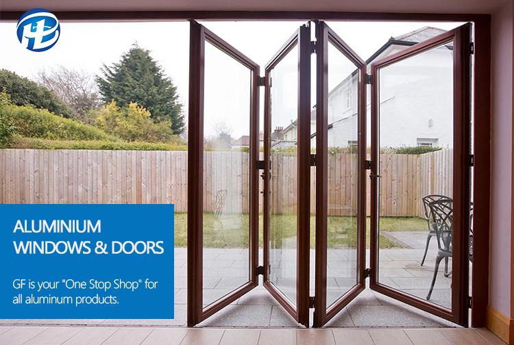 Wholesale China Factory Bi-folding Doors Aluminium Alloy Vertical ...