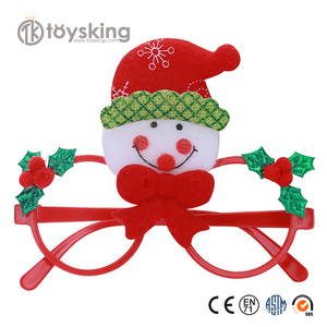 Party Decoration Gift Items Plastic Novelty Christmas Snowman Glasses Christmas Decoration items for Kids Funny Party