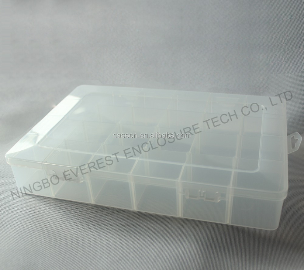 DRX 24-Compartments Clear Plastic Sieraden Opbergdoos