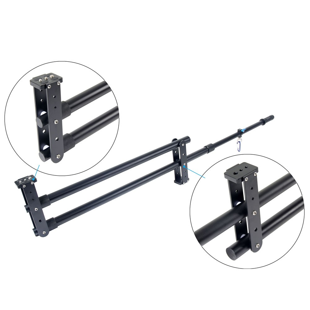 YELANGU Professional Aluminum Video Camera Crane Jib For DSLR Removable and Easy to Carry without tripod