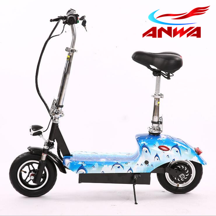 "New products 2017 2 Wheel 10"" Electric Scooter With 35-40KM Distance Range, Can Folded Into Car Truck"