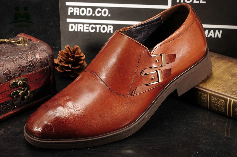 Factory direct sale comfortable men genuine italian leather dress shoes
