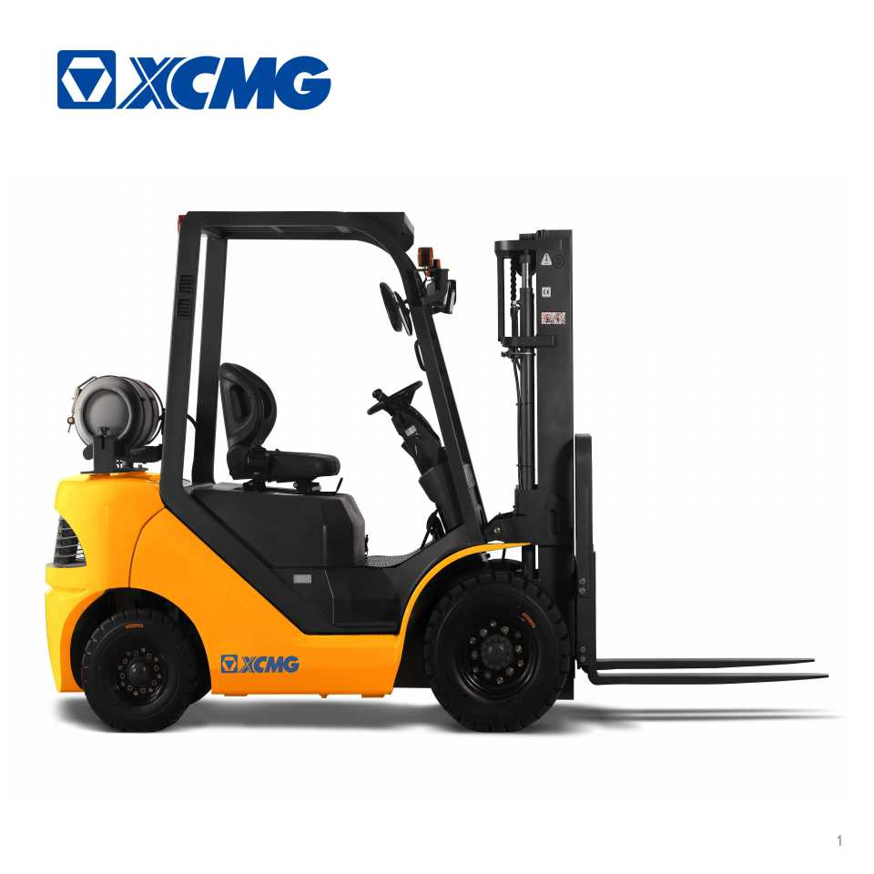 XCMG 2.5 ton Tier 4 engine 5000 lb LPG gas lift truck propane forklift for US market