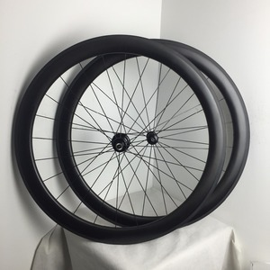Best offer for 700C 50mm clincher carbon Disc Brake wheelset chinese cheap road bike wheels