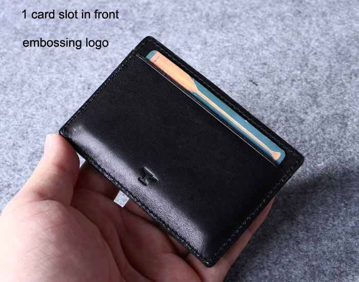 Black leather card holder men and women giftgenuine leather slim black leather card holder men and women giftgenuine leather slim business card wallet colourmoves