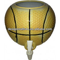 Unique Design Basketball Shaped Ceramic Water Crock