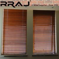 RRAJ Make Faux Wood Kitchen Curtain Blinds