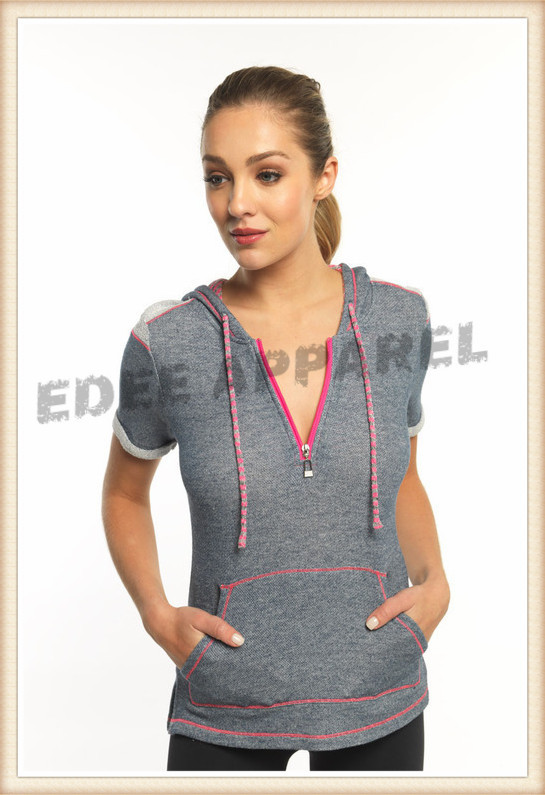 women s short sleeve hoodie womens fitness hoodies wholesale plain hoodies 94770a8d5