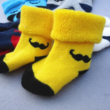 1pairs New 2016 Mustache Original Design Baby Boy Cartoon Character Socks newborn socks girl Children Clothing