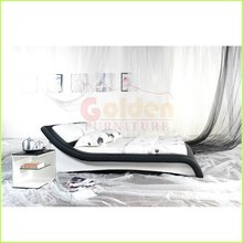 white leather bed latest design double geman beds bett