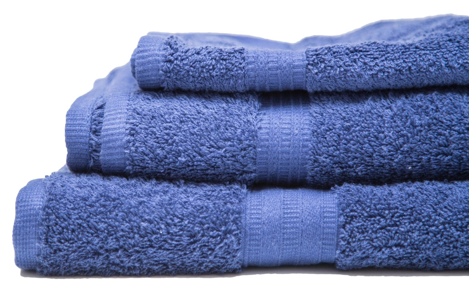 Flato 4 Piece 100% Cotton Bath Towel Set, 700 GSM (Navy)