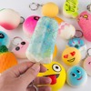 Wholesale Mini Soft ice cream Donuts Food Phone Straps Squishy Charm Gift Miniature Novelty Toys