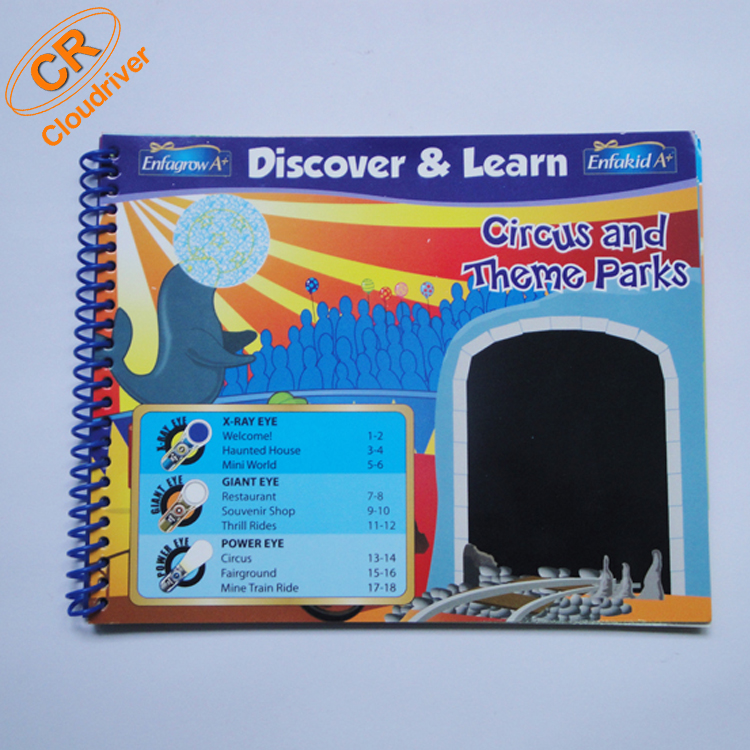 Discover and Learn Single Spiral Children Paper Books
