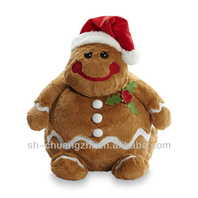 Wilko Animal Pillow : gingerbread man plush doll