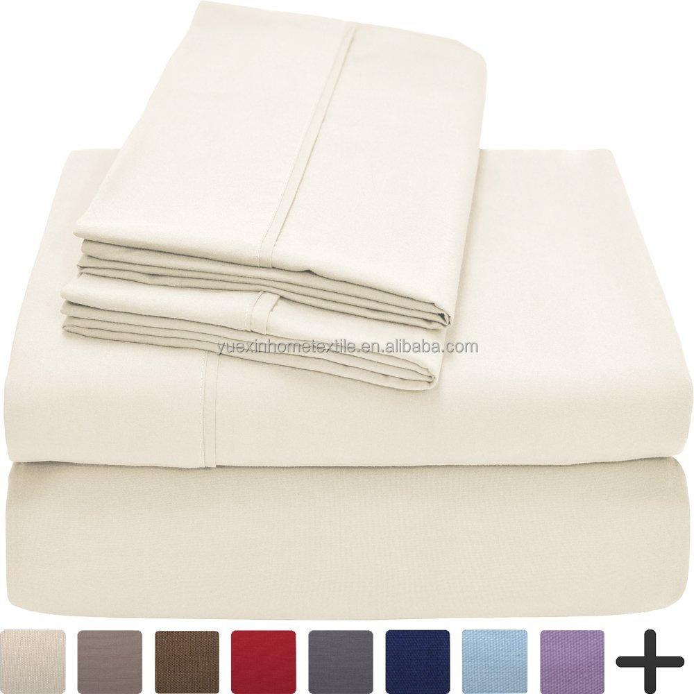 Four Season Ultra Soft 100 Polyester Microfiber Sheet Set Free Wrinkle Easy Care Hotel Bedding