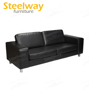 popular occasional black micro fiber leather party lounge sofas