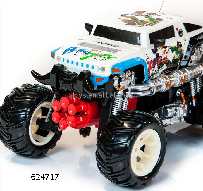 product detail rc remote control race racing car offroad monster truck toy missile launcher