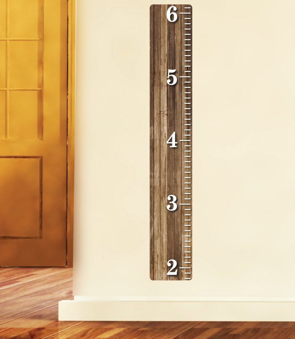 Buy Weathered Wooden Ruler Growth Chart Wood Ruler Height Chart