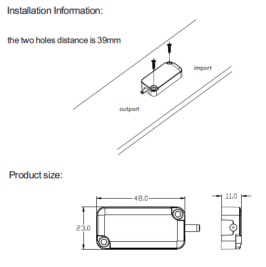 ir led cabinet door light sensor switch infread led