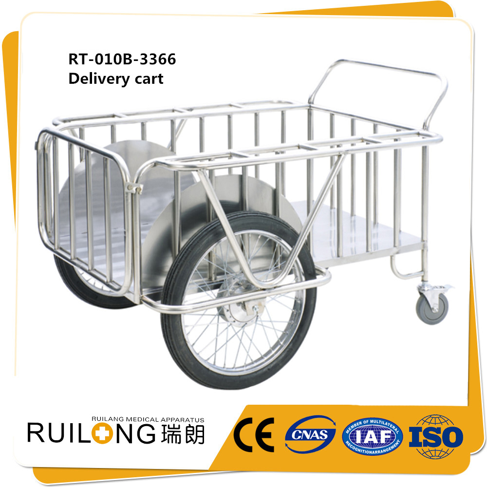 5255a063c174 Delivery Trailer stainless steel Roll container Delivery truck with Big  wheels