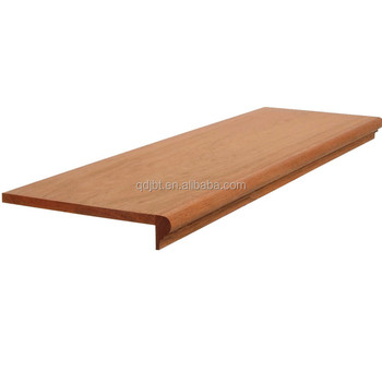 Round Nose Plain Laminate Wood Stair Tread