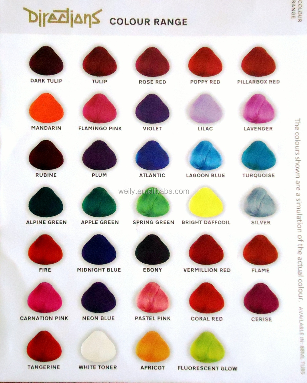 Jazzing hair color chart weave hair color chart sovinsl weave semi permanent hair dye color ruby red poppy red buy hair color creams geenschuldenfo Choice Image