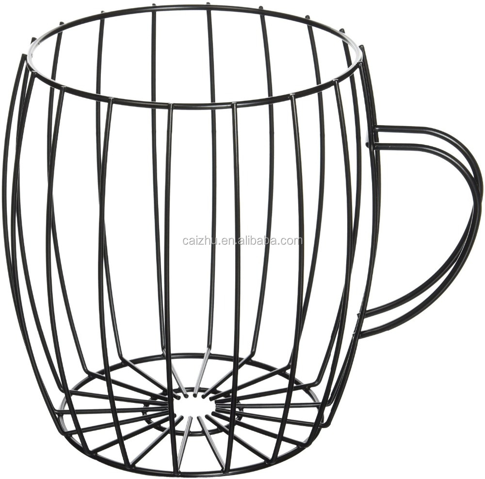 Metal Wire Coffee Pod Holder And Organizer In Mug Shape For The Kitchen