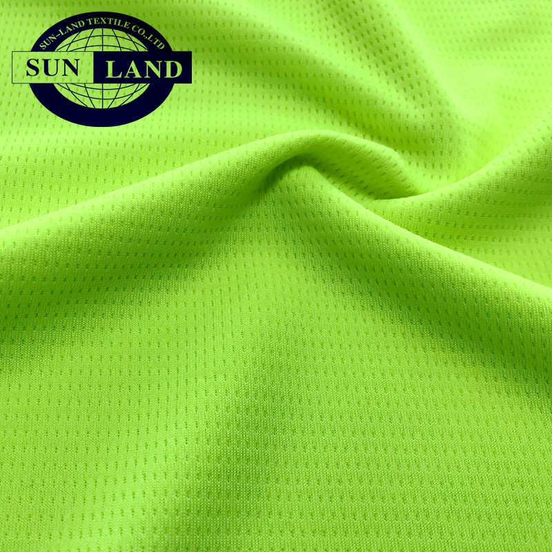 sports knitting clothing 100 polyester line look eyelet fabric