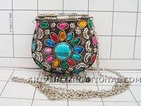 $ 15.42 USD KWLL01001 Wholesale Lot of 5 pc Metal Jewelry purses