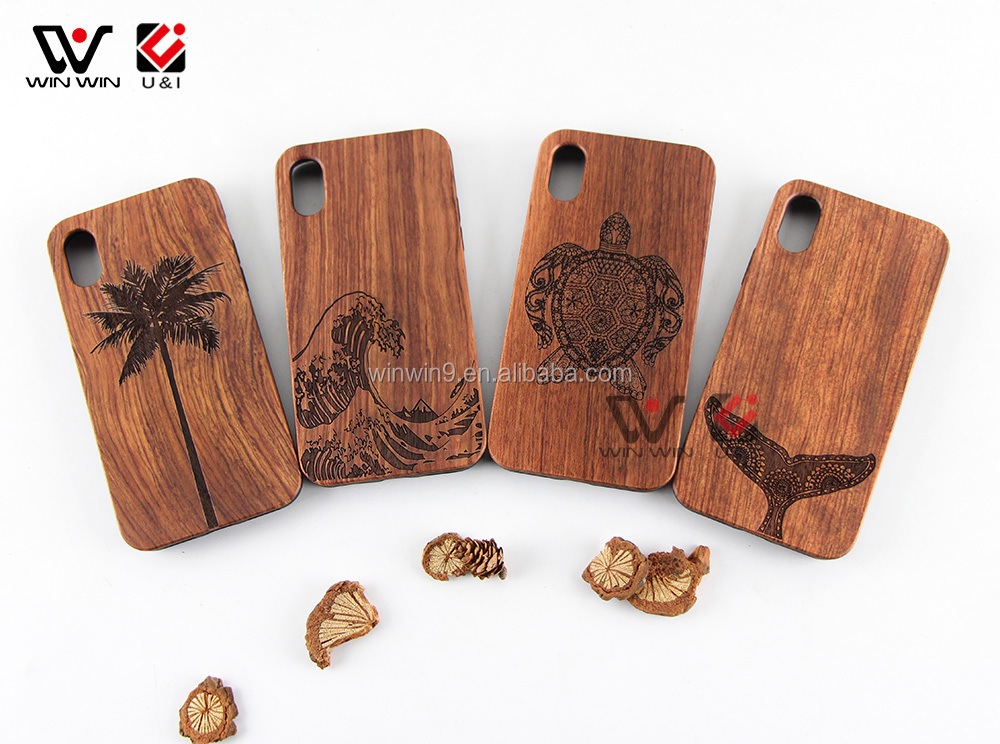 New Products Luxury Wood Mobile Phone Accessories for iPhone X Flexible TPU Bumper Cases Cover