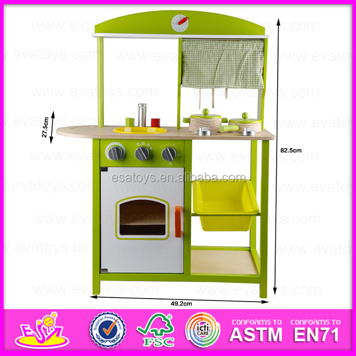 2017 Pretend Kitchen Toy Play Set Diy Wooden Furniture Hot