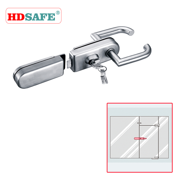 Glass sliding door/swing door stainless steel glass sliding door lock