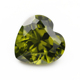 olive green heart shape jewellery loose zirconia peridot cz price
