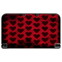 Hearts Pattern Grunge New 3DS XL 2015 Vinyl Decal Sticker Skin by Moonlight Printing