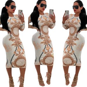 women fashion 2019 sexy long sleeve dresses women