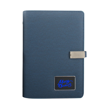 Shaking Lighting Logo Diary USB Power Bank New Product Ideas 2019 Christmas Corporate Gifts Multi Functional Notebook 8000 mah
