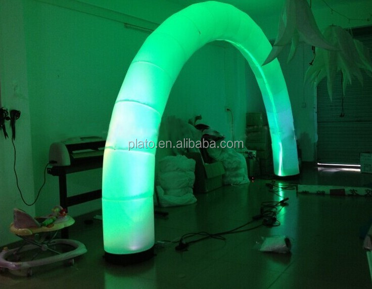 Hot Selling Cheap Inflatable Arch with LED lamp ,inflatable entrance Arch with 7 Different Color