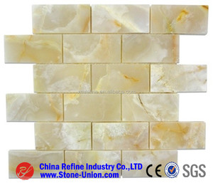 Honey Onyx Polished Mosaic Tiles kitchen backsplash,Natural Onyx Marble Mosaic Tiles