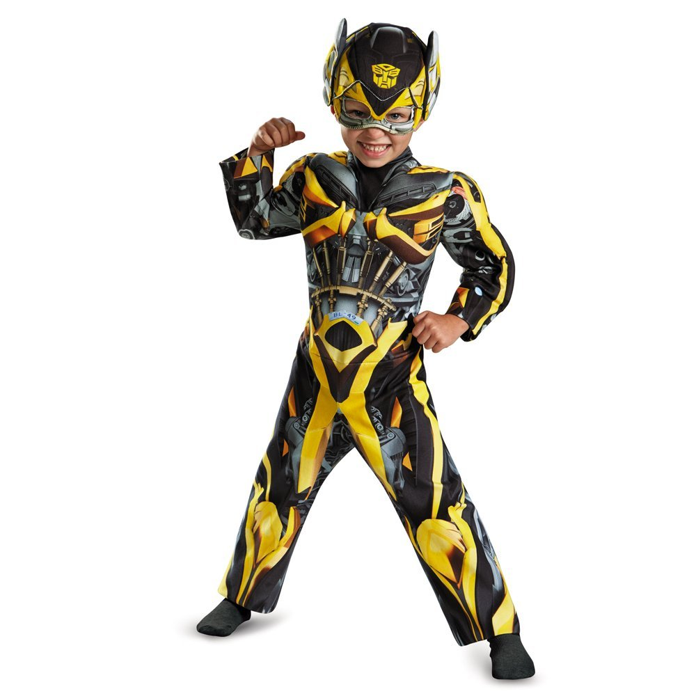 Disguise Hasbro Transformers Age of Extinction Movie Bumblebee Toddler Muscle Costume, Medium/3T-4T