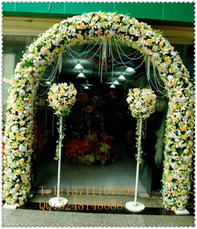 factory cheap price wholesale wedding rose pe artificial flowers arch with metal wire frame. Black Bedroom Furniture Sets. Home Design Ideas