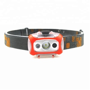 2017 newest Headlamp with Motion Sensors for Camping Hiking, Hunting Running Reading, 3 AAA battery.