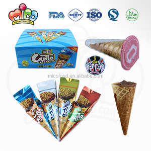 ice cream shaped chocolate sause crispy with toy