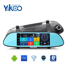 Full HD 1080 p 7 touchscreen 3g android dual-kamera auto gps-navigation mit wireless-rückfahrkamera