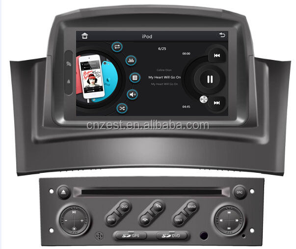 autoradio cd mp3 mp4 touchscreen autoradio f r renault. Black Bedroom Furniture Sets. Home Design Ideas