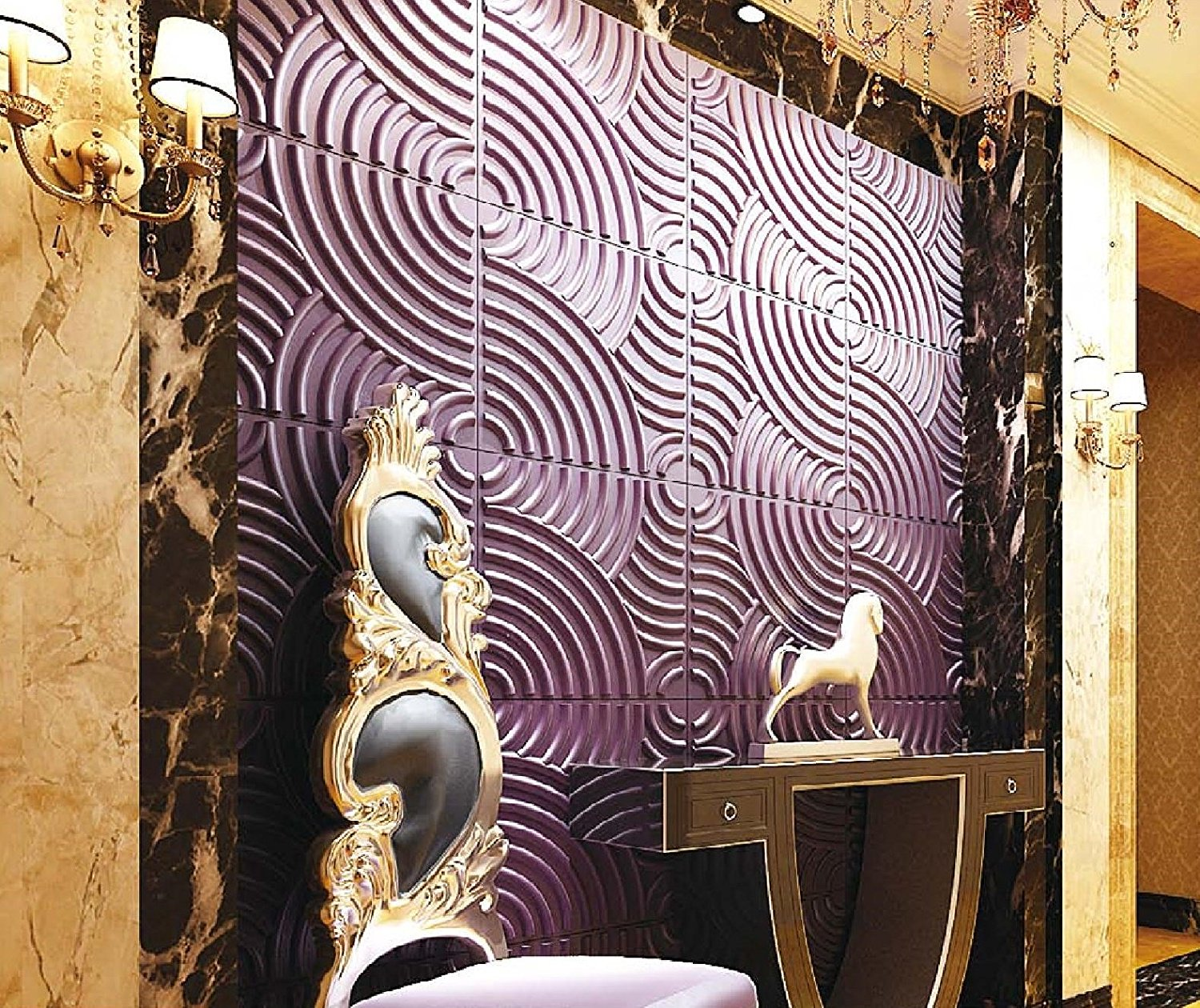 Affordable Home Innovations Modern Rainbow 3d Wall Panels Eco-friendly 32 Sq Ft