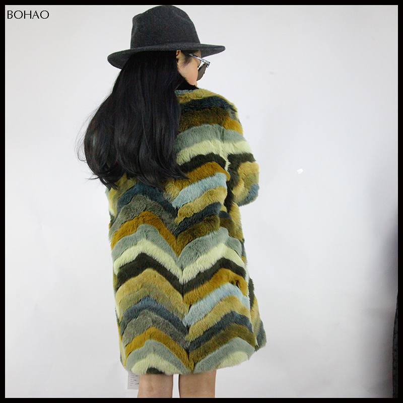 Fashion Warm Winter Style With High Quality Designer Imitation Animal Fur Coat