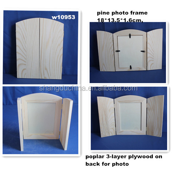 poplar plywood wooden picture photo frame for funer decor
