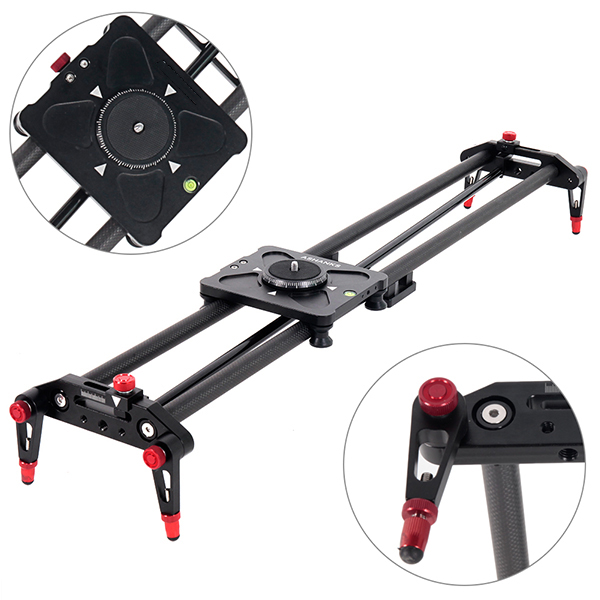 80cm Carbon Fiber Video camera Slider dolly ElectronicMotorized Follow Focus Pan Remote Control Delay Timeplate Bearing Slider
