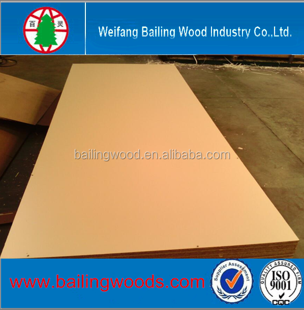 12 /18 MM decorative use veneer MDF price/E1 MDF big size